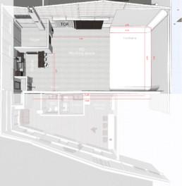 RoofOneStudio Grundriss Mainspace Eventlocation Mietlocation Mietstudio Fotostudio EG